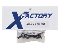 Image 2 for X Factory 4x10mm Flat Head Hex Screw (6)