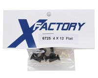 Image 2 for X Factory 4x12mm Flat Head Hex Screws (6)