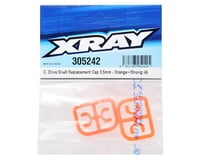 Image 2 for XRAY 3.5mm Plastic Drive Pin Clips (4) (Orange)