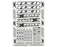 XRAY RX8 2018 Sticker Sheet (White)