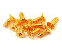 Yeah Racing 3x8mm 24K Gold Coated 12.9 Grade Steel Flat Head Hex Screw (10) | relatedproducts