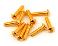 Yeah Racing 3x12mm 24K Gold Coated 12.9 Grade Steel Button Head Hex Screw (10) | relatedproducts