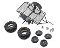Yeah Racing 1/10 Scale Aluminum Leaf Spring Hitch Mount Crawler Trailer (RC4WD Trail Finder 2)