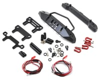 Yeah Racing Aluminum SCX10 Front & Rear Bumper Set w/Heavy Duty Shackle & LEDs