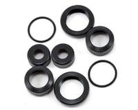 Yokomo YR-10 Lower Shock Cap & Pre-Load Collar Set (Black) (2)