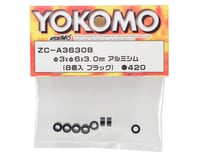 Image 2 for Yokomo 3x6x3.0mm Aluminum Shim (Black) (8)