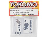 Yokomo YZ-4 5x8mm Spacer Shim Set (0.05, 0.1 & 0.2mm)