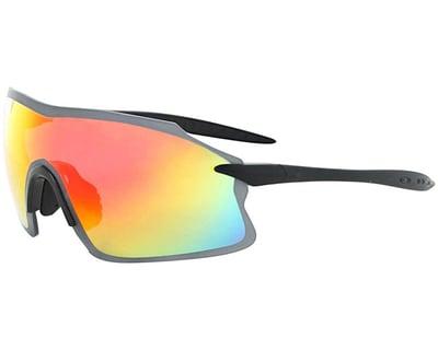 Optic Nerve Primer Sunglasses Shiny Black//Green with Gray//Green Bike Mirror Lens