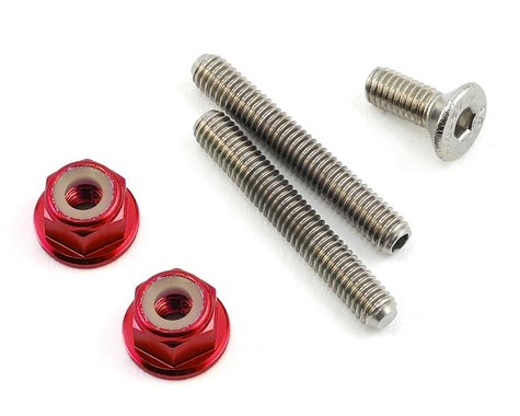 175RC Titanium Lower Arm Stud Kit (Red)