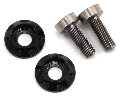 """175RC 3x8mm Titanium """"High Load"""" Motor Screws (Black)"""