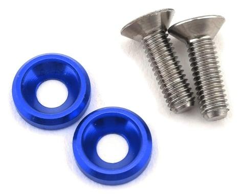 175RC 3x10mm Titanium Motor Screws (Blue)