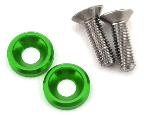 175RC 3x10mm Titanium Motor Screws (Green)