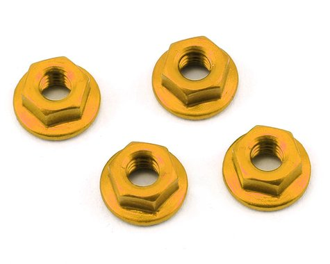 175RC Aluminum 4mm Serrated Wheel Nuts (Gold)