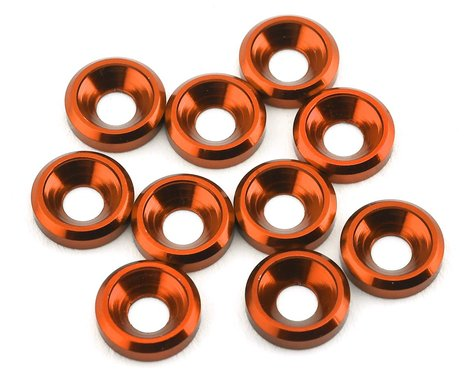 175RC Aluminum Flat Head High Load Spacer (Orange) (10)