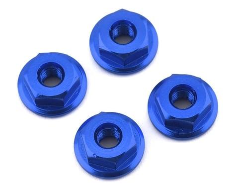 175RC Mini-T 2.0 Serrated Wheel Nuts (4) (Blue)