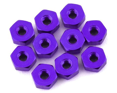 175RC Mini-T 2.0 Aluminum Nut Kit (Purple) (10)
