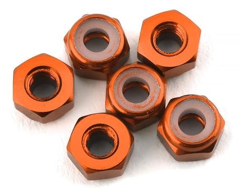175RC Lightweight Aluminum M3 Lock Nuts (Orange) (6)