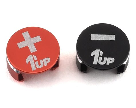 1UP Racing LowPro Bullet Plug Grips (Black/Red)