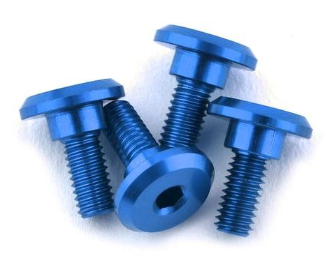 1UP Racing 3x6mm Aluminum Servo Mounting Screws w/4.2mm Neck (Bright Blue) (4)