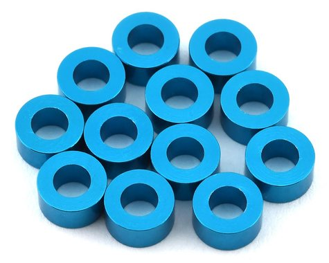 1UP Racing Precision Aluminum Shims (Blue) (12) (3mm)