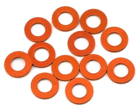 1UP Racing Precision Aluminum Shims (Orange) (12) (.25mm)