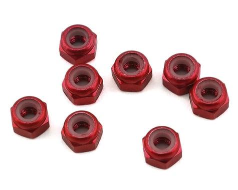 1UP Racing 3mm Aluminum Locknuts (Red) (8)