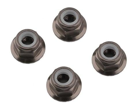 1UP Racing 4mm Serrated Aluminum Locknuts (Bronze) (4)