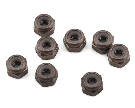 1UP Racing 3mm Aluminum Locknuts (Bronze) (8)