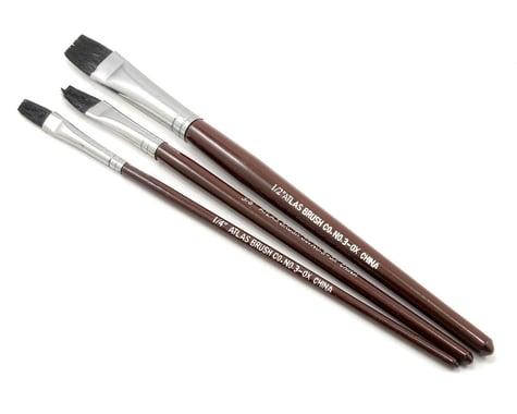 Atlas Brush Flat Ox Hair Brush Set (3)