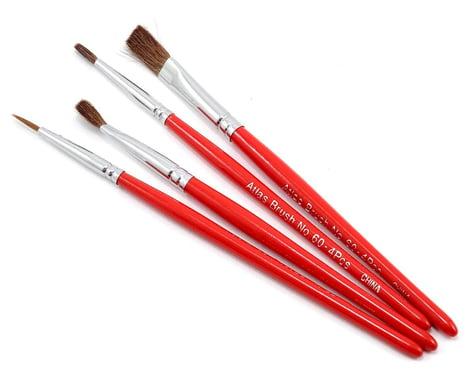 Atlas Brush Red Sable Round & Flat Brush Set (4)