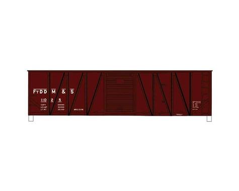 Accurail HO KIT 40' Wood Outside Braced Box FtDDM&S
