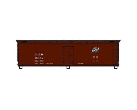 Accurail HO KIT 40' Wood Reefer C&NW Brown
