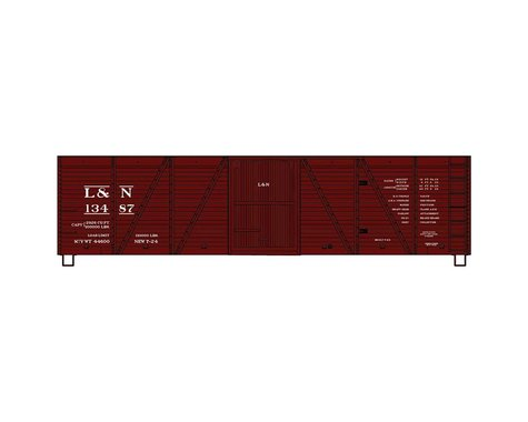 Accurail HO KIT 40' 6-Panel Wood Boxcar, L&N