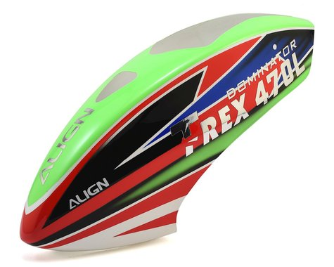 Align 470L Painted Canopy (Green/Red/Blue)