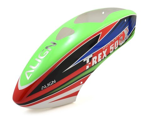 Align 500X Painted Canopy (Green/Red/Blue)