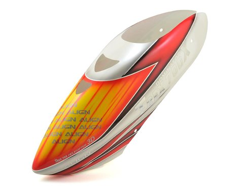 Align T-Rex 700X Painted Canopy (White/Orange/Red)