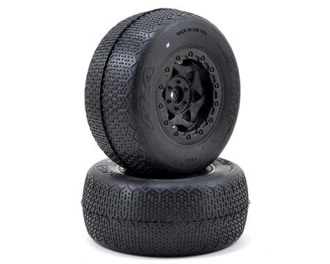 AKA Typo Wide SC Pre-Mounted Tires (SC6/Slash/Blitz) (2) (Black) (Clay)