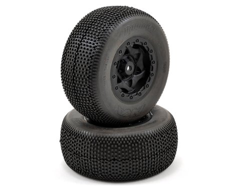 AKA Impact Wide SC Pre-Mounted Tires (SC5M) (2) (Black) (Super Soft)