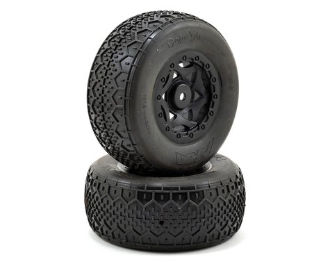 AKA Deja Vu Wide SC Pre-Mounted Tires (TEN-SCTE) (2) (Black) (Super Soft)