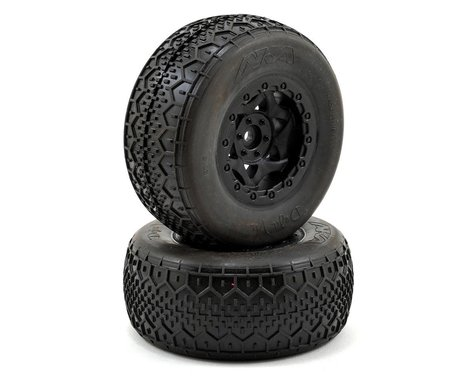 AKA Deja Vu Wide SC Pre-Mounted Tires (Slash Rear) (2) (Black) (Ultra Soft)