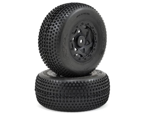 AKA Enduro 3 Wide SC Pre-Mounted Tires (TEN-SCTE) (2) (Black) (Ultra Soft)