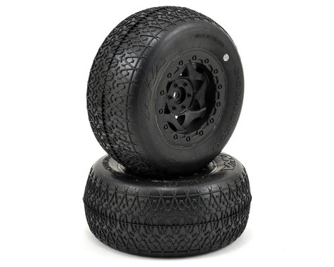 AKA Chain Link Wide SC Pre-Mounted Tires (SC6/Slash) (2) (Black) (Ultra Soft)