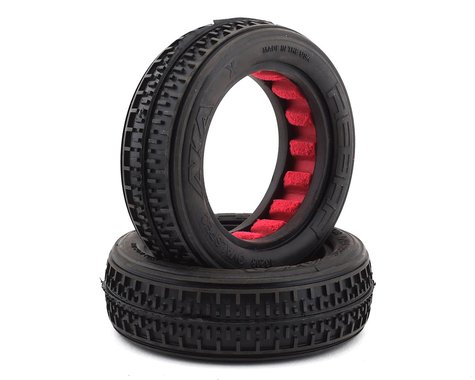 AKA Racing Rebar Fr 2WD Buggy Tires with Red Inserts (Soft) AKA13208SR