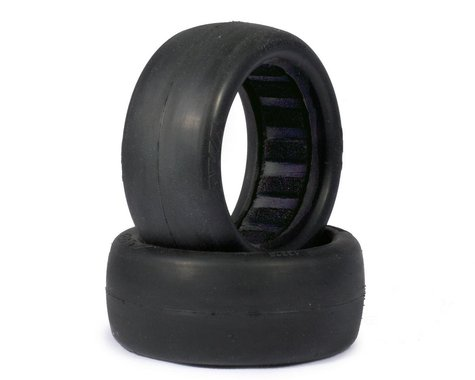 "AKA ""EVO"" Slicks Front 4WD Buggy Tires w/Black Insert (2) (Clay)"