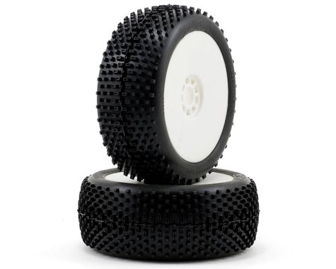AKA Cross Brace 1/8 Buggy Pre-Mounted Tires (2) (White) (Super Soft)