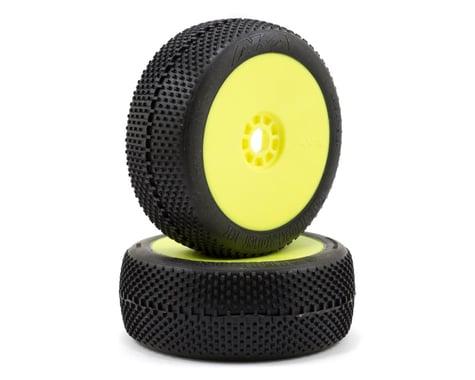 AKA Gridiron II 1/8 Buggy Premounted Tires (2) (Yellow) (Soft)