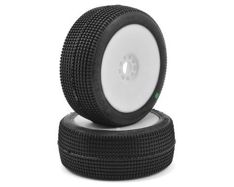 AKA Double Down 1/8 Buggy Pre-Mounted Tires (2) (White) (Soft)