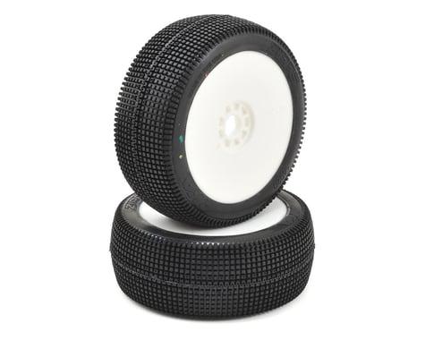 AKA EVO Zipps 1/8 Buggy Pre-Mounted Tires (2) (White) (Soft - Long Wear)