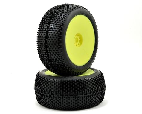 AKA EVO I-Beam 1/8 Truggy Pre-Mounted Tires (2) (Yellow) (Soft)