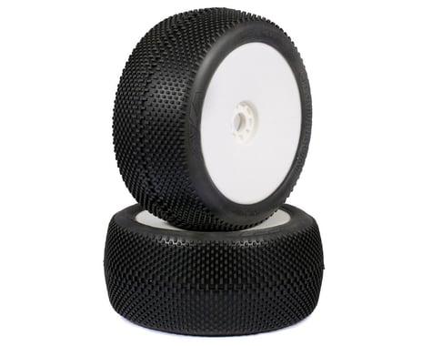 AKA EVO Gridiron 1/8 Truggy Pre-Mounted Tires (2) (White) (Soft - Long Wear)